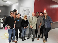 Provost of LAGCC visits faculty and WikNYC at translatathon jeh.jpg