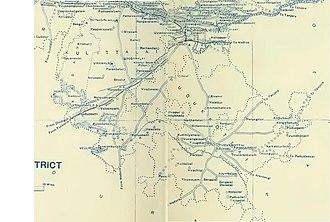 Pudukkottai State - Map of Pudukkottai