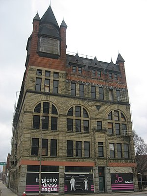 Pythian Castle (Toledo, Ohio) - Front and eastern side