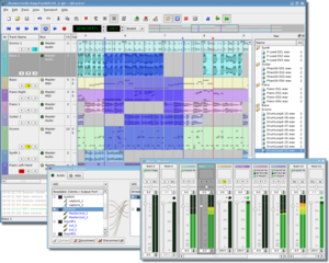 Digital audio workstation - Qtractor screenshot