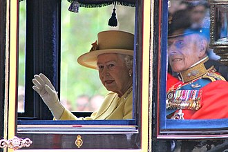 Trooping the Colour - The Queen and Duke of Edinburgh at Trooping the Colour, June 2012.