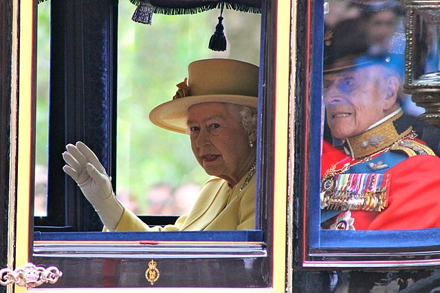 Queen Elizabeth II & The Duke of Edinburgh at Trooping the Colour, June 2012