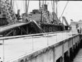 Queensland State Archives 1654 SS Korimoko first bulk loading of wheat at Pinkenba Wharf Brisbane December 1952.png