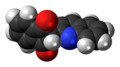Quinoline Yellow SS molecule spacefill.png