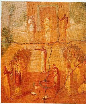 Temple of Isis (Pompeii) - The Worship of Isis from Herculaneum fresco