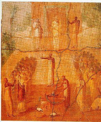 Temple of Isis (Pompeii) - Image: Römischer Gottesdienst zur Ehre Isis