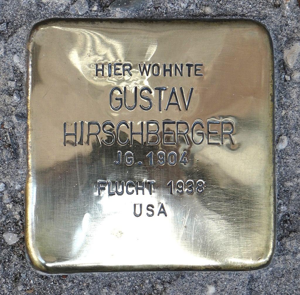 Rüdesheim am Rhein Stolperstein Steingasse 9 Gustav Hirschberger.jpg
