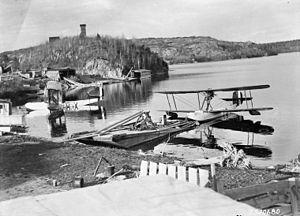 Larder Lake, Ontario - Royal Canadian Air Force planes at Larder Lake, 1926