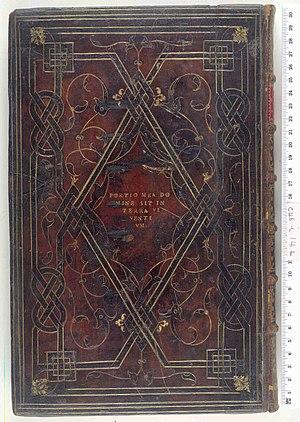 Jean Grolier de Servières - Image: R. P. D. Viperae. Opus de Prisco. Lower cover (c 46i 14)