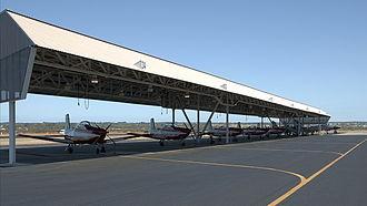 RAAF Base Pearce - Lineup of PC-9 aircraft from No 2 FTS at RAAF Base Pearce
