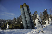 Installing inflatable decoys of the S-300 during a Russian army exercise by the Guards Engineer Brigade and the Engineer Camouflage Regiment.
