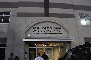 Rob Kauffman (businessman) - The entrance to RK Motors Charlotte, one of Kauffman's Subsidiaries.