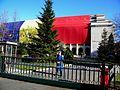 ROMANIA, Bucuresti, 1. Dec. 2015, Palatul Guvernului (exterior cu Tricolor si cu soldat).JPG