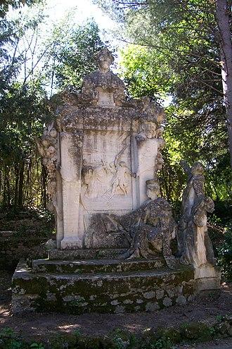 François Rabelais - Monument to Rabelais at Montpellier's Jardin des Plantes