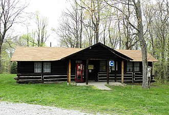Raccoon Creek State Park - One of the cabins in the RDA