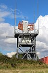 Radar antenna, Liverpool John Lennon Airport 2.jpg