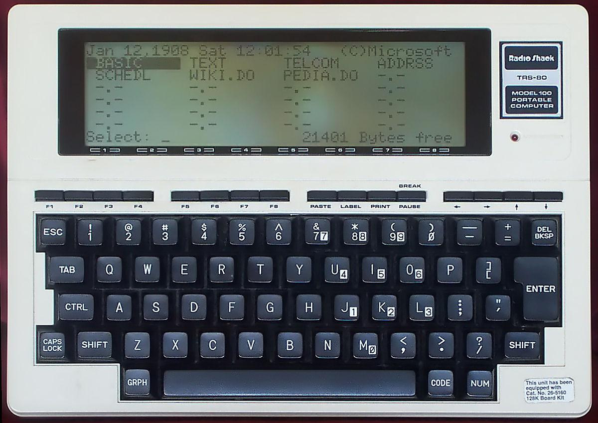 TRS-80 Model 100 - Wikipedia