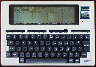TRS-80 Model 100 early portable computer