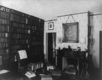 Ralph Waldo Emerson House - Emerson's study at Bush, shortly after his death