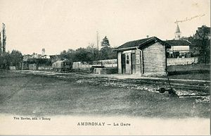 Ambronay - The Ambronay-Priay Station at the beginning of the 20th century