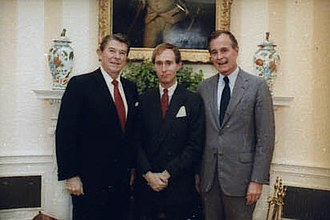 Roger Stone - Stone with President Ronald Reagan and then-Vice President George H. W. Bush in 1982