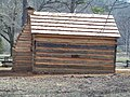 Rear of log cabin at Knob Creek.jpg