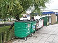Recycling bins outside Baffins Pond toilets - geograph.org.uk - 859598.jpg