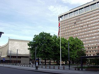 Regjeringskvartalet area in Oslo, Norway, for the governments administrative offices