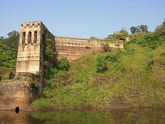 Makrai State - The ruined palace of the Rajas of Makrai State.