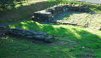 Nidum - Remains of the south gate entrance to the Roman fort at Nidum