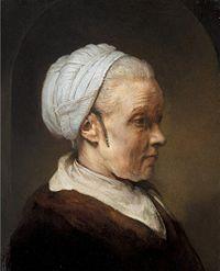 Rembrandt van Rijn - Studie van een oude vrouw in een witte dop.jpg