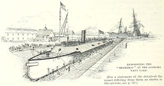 CSS Virginia - Merrimack is rebuilt into Virginia