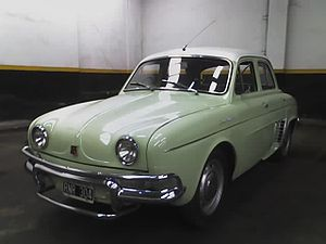 Renault Dauphine - Argentine Dauphine (made by Industrias Kaiser Argentina) - This unit was made in 1962 - Note the additional piece over the bumpers