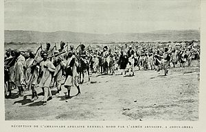 Anglo-Ethiopian Treaty of 1897 - Arrival of the Rennell Rodd mission at Addis Ababa