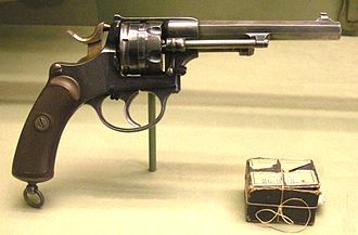 1872 Swiss revolver - Revolver Model 1878, on display at Morges castle museum.