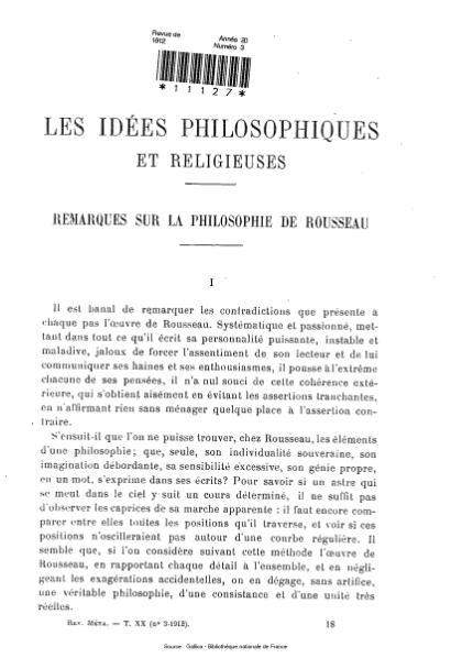 File:Revue de métaphysique et de morale, numéro 3, 1912.djvu