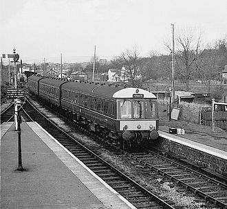 Rhymney railway station - Rhymney station in 1962
