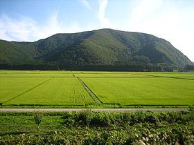 Paddy fields near Lake Inawashiro in Japan