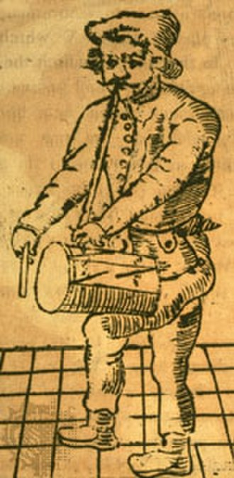 The Grand Old Duke of York - Richard Tarlton in the 1580s with his pipe and tabor