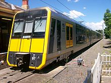 Richmond railway station Tangara on platform 2.JPG