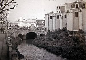 Rio San Francisco y puente San Francisco, Puebla.