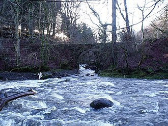 River Carron, Forth - The Carron at its confluence with the Garvald Burn, near Fankerton.