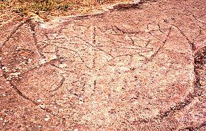 Callan Park Hospital for the Insane - One of many rock carvings in the hospital grounds, possibly the work of former patients.