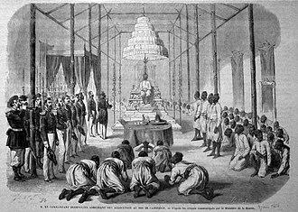 Dark ages of Cambodia - Cambodia drawing 1864.