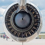 Rolls-Royce Trent XWB on Airbus A350-941 F-WWCF MSN002 ILA Berlin 2016 09 square-crop.jpg