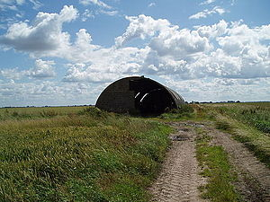 Romney hut - Romney hut near Eastoft, Lincolnshire, July 2007