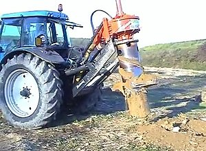 Biomass - Stump harvesting increases the recovery of biomass from a forest.