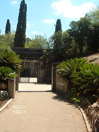 Ramat HaNadiv - The entrance to the Rothschild family tomb