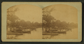 Rowboats pulled up on the beach. Spirit Lake, Iowa, by Frank F. Roblin.png