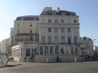 Libraries in Brighton and Hove - The Royal Albion Hotel housed the Brighton Royal Literary and Scientific Institution, whose collection of books was presented to Brighton Corporation when the first public library was set up.